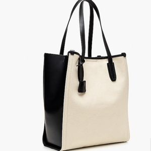 NWT J. Crew Signet tote canvas and Italian leather